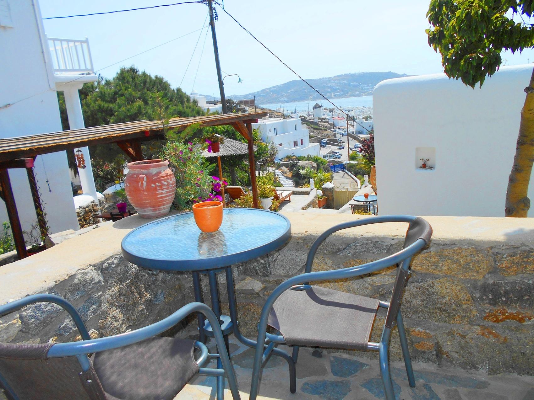 La Veranda of Mykonos - Traditional budget small Double bed room Partial Sea View