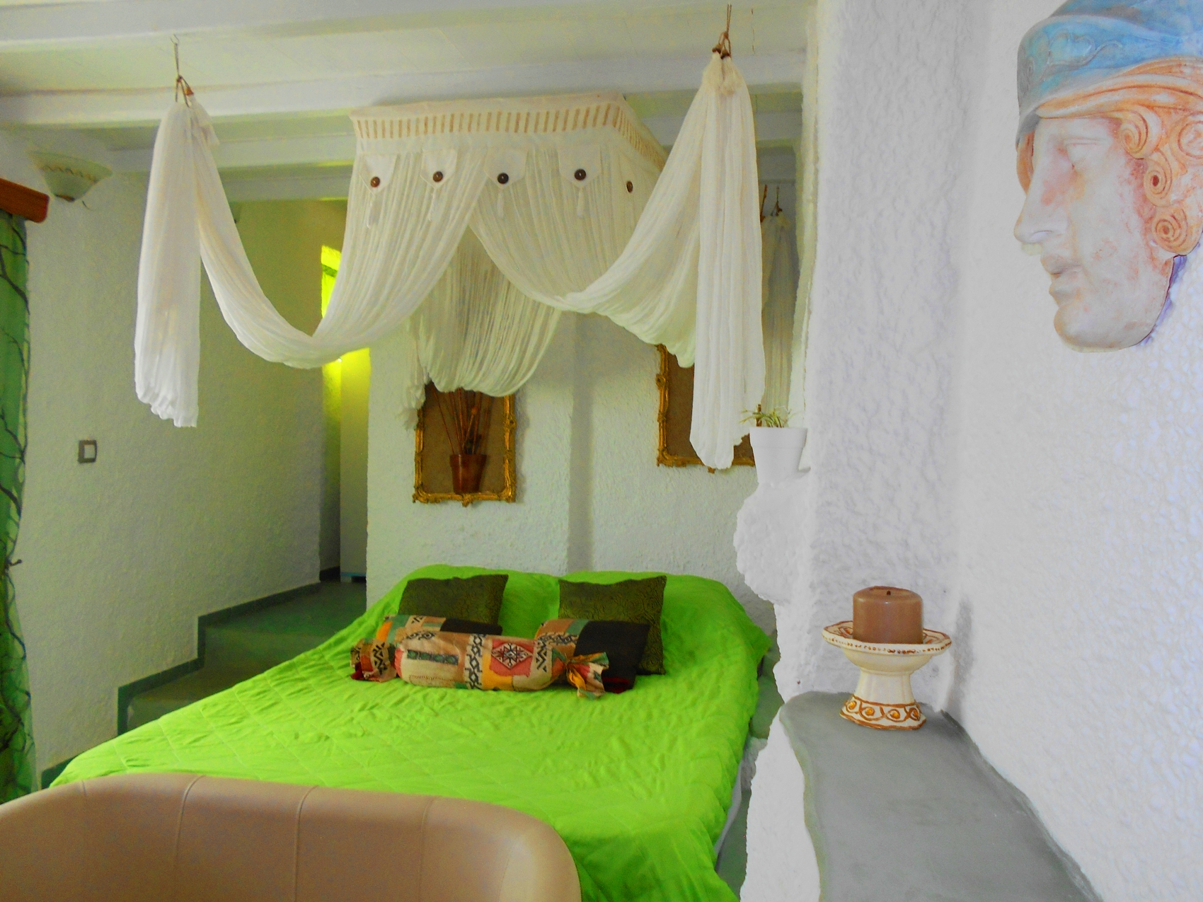 La Veranda of Mykonos - Traditional budget small Double bed room Partial Sea View