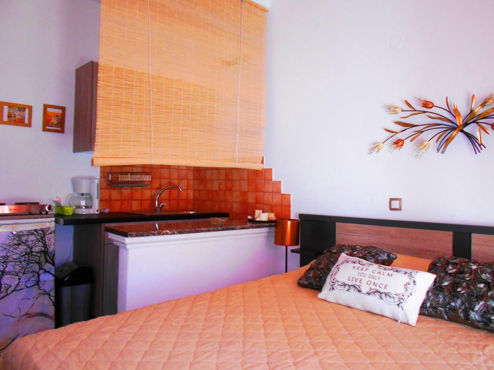 La Veranda of Mykonos - Double Room with Kitchenette corner Pool view